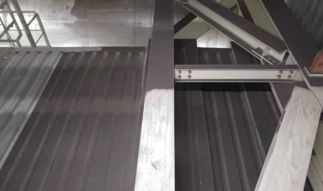 Trägerreinigung durch Industriekletterer in einem Kraftwerk
